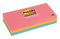 3M CAPETOWN RULED POSTIT NOTES 73x73MM ASSORTED PACK OF 6