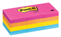 3M CAPETOWN NEON POSTIT NOTES 36x48MM ASSORTED PACK OF 12