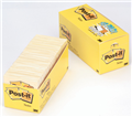 3M CANARY YELLOW POSTIT NOTES 76x76MM CABINET PACK OF 18