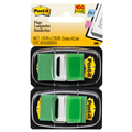 3M GREEN POSTIT FLAGS TWIN PACK OF 100