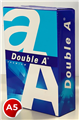 DOUBLE A A5 COPY PAPER 80GSM REAM