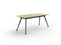 2400 x 1200mm Team Table Black Frame New Oak Top