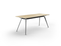 2400 x 1200mm Team Table Polished Alloy Frame New Oak Top
