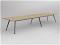 3600 x 1200mm Team Table Black Frame New Oak Top