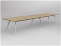 3600 x 1200mm Team Table White Frame New Oak Top