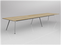 4800 x 1200mm Team Table Polished Alloy Frame New Oak Top